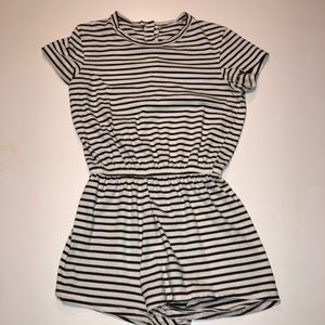 American Apparel Striped Tshirt Romper